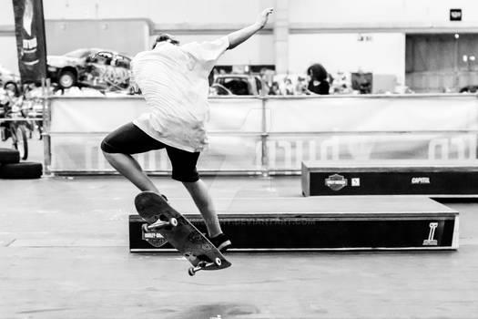Young man skateboarding 7