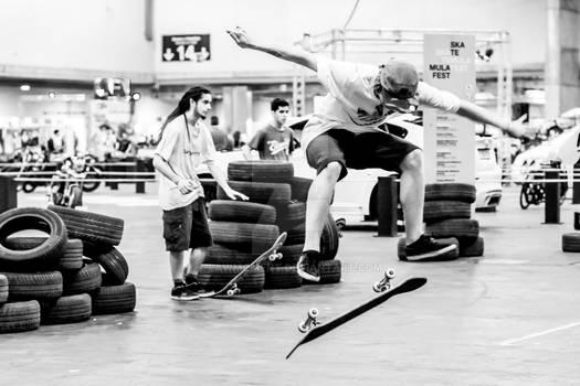 Young man skateboarding 6