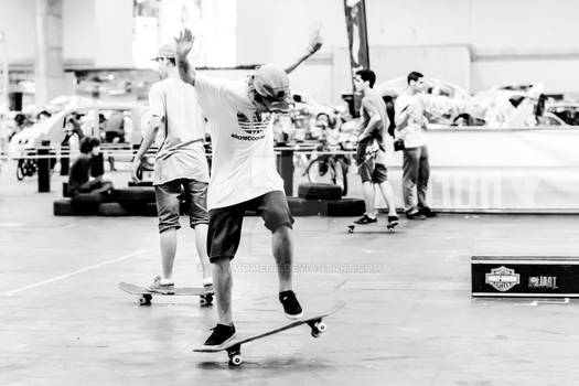 Young man skateboarding 3