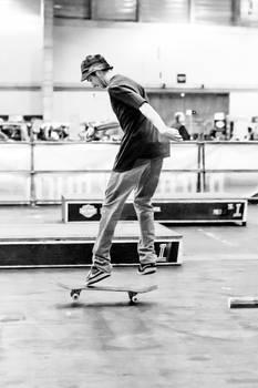 Young man skateboarding 5
