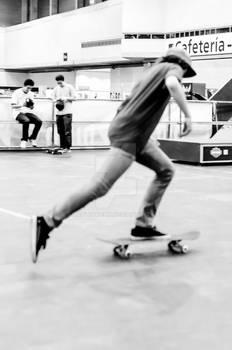 Young man skateboarding 2
