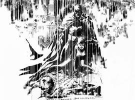Batman and Catwoman con sketch by JJDZIALOWSKI