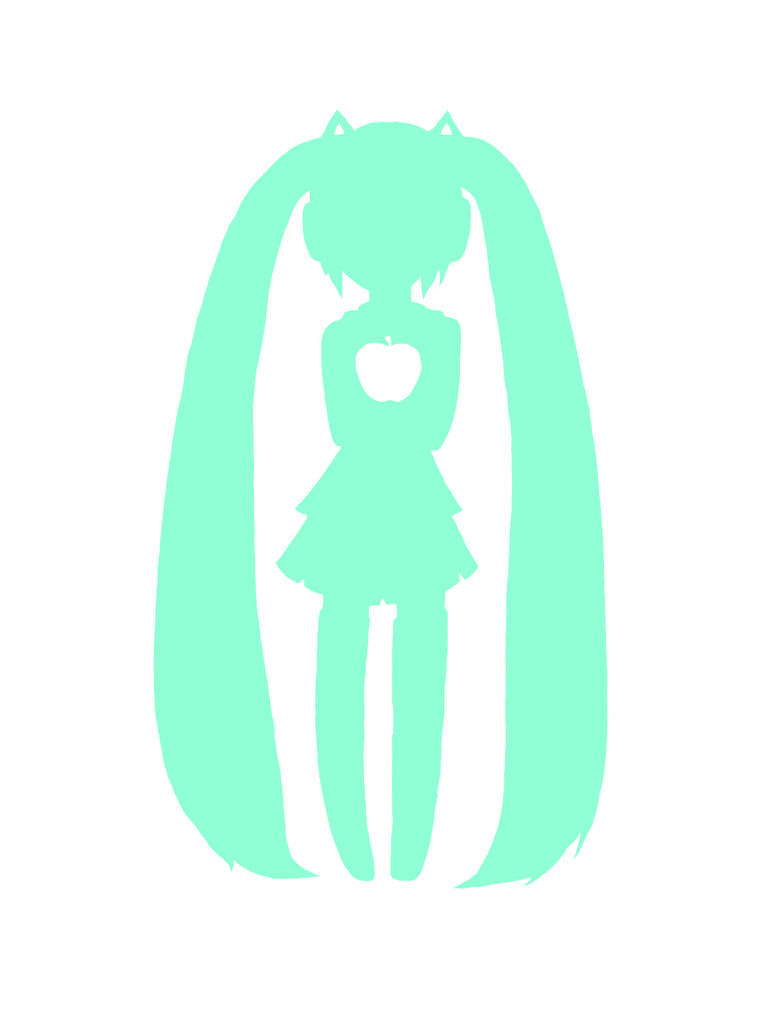 T-shirt design: Miku and Bad Apple crossover by chakupuchi