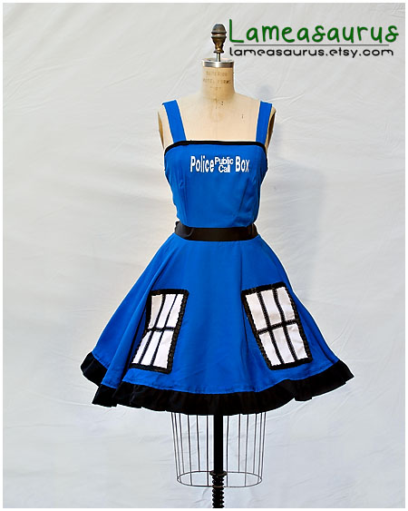 TARDIS Dress Doctor Who by Lameasaurus-etsy