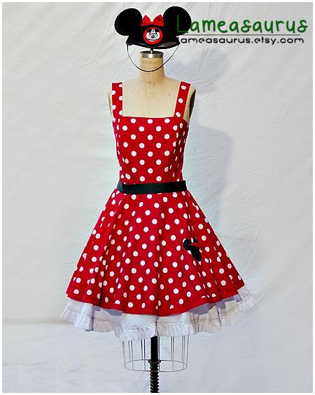 Minnie retro style dress by Lameasaurus-etsy