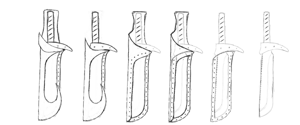 Rebar knife and sheath design by DaisyAzuras
