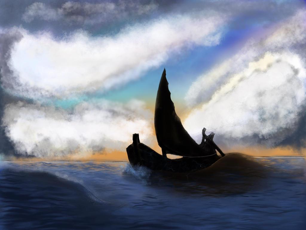 Ship at sea by DaisyAzuras