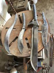 Rebar blades.