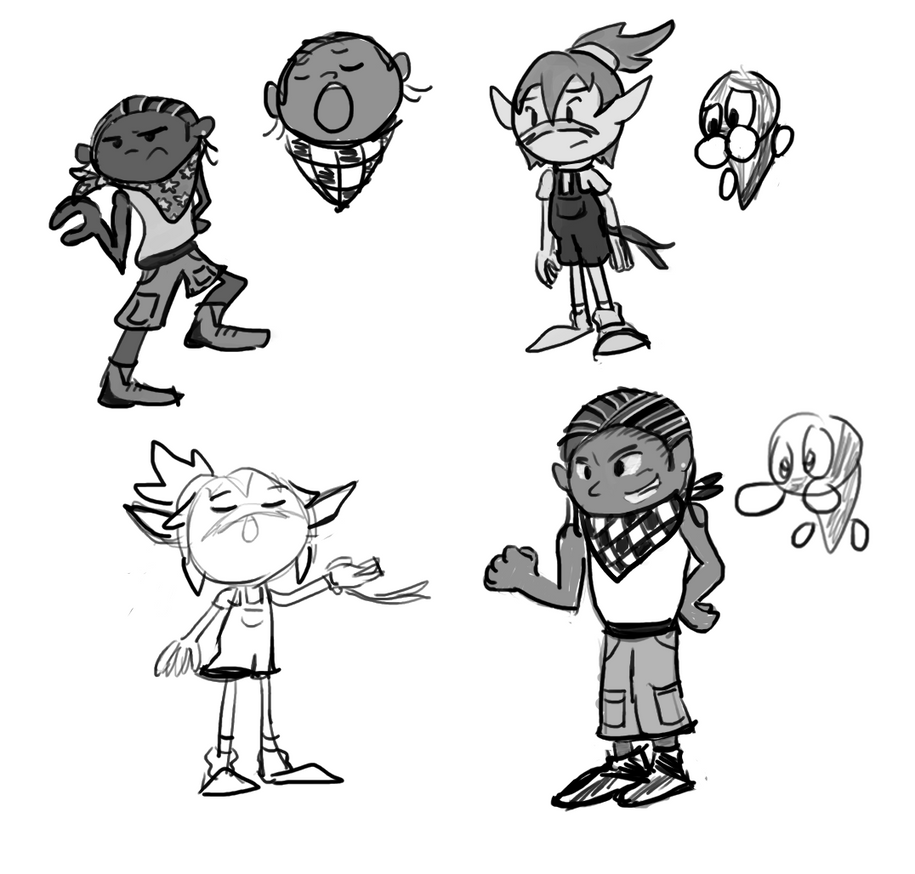 Some of my experimental character designs.