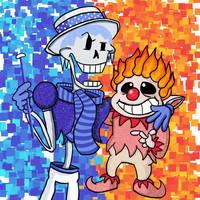 The Miser Skelebrothers by luvkirby4ever