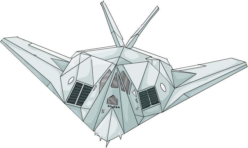 F117 NightHawk by F 117 Stealth Fighter Drawing