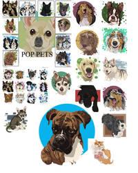 Pop Pet Portraits by cameoanderson