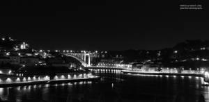 Douro River Black and White