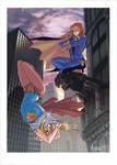 Batgirl and Supergirl!