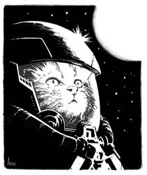 Spacecat is back! - Print available by DrManhattan-VA