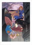 Batgirl vs Supergirl - Print Available!