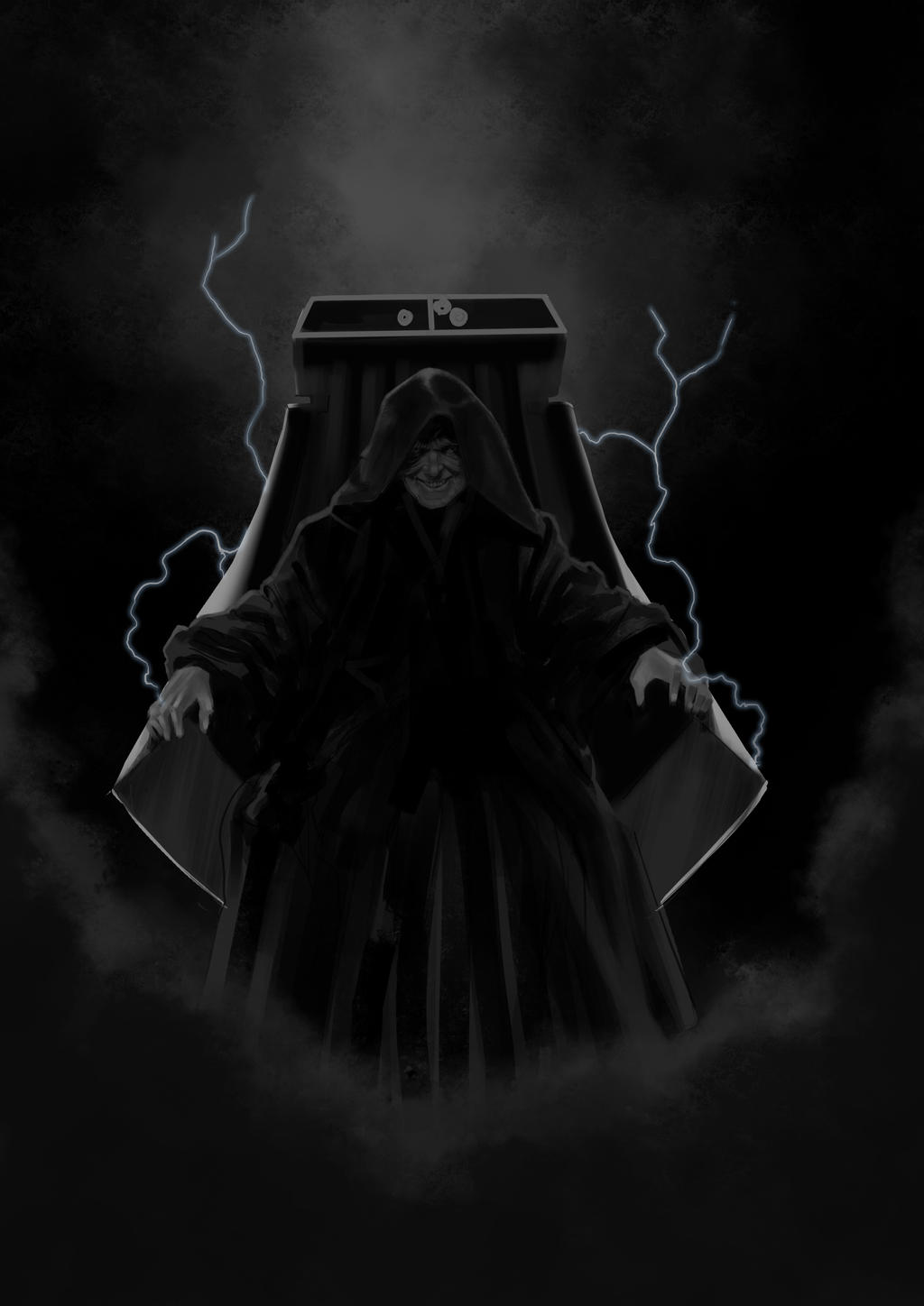 how to draw darth sidious