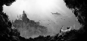 Photobashing study - Underwater ruins 3
