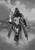 Pyro Lady - Adding some background by DrManhattan-VA