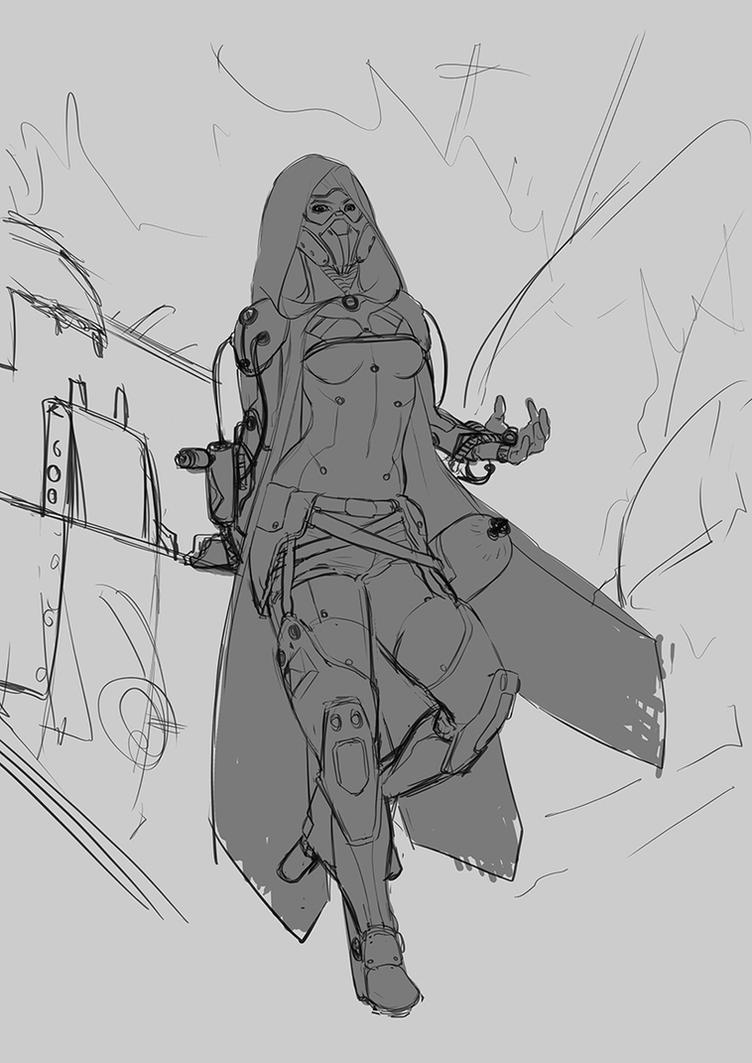 Pyro Lady - First sketch by DrManhattan-VA