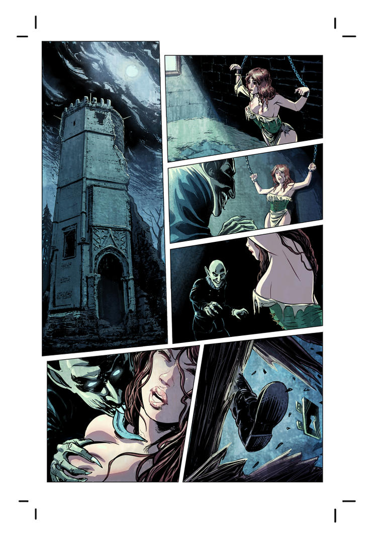 New Commission: Dominik Witchburner - page 1 color by DrManhattan-VA