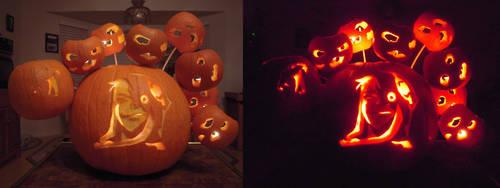 Medusa Jack-O-Lantern