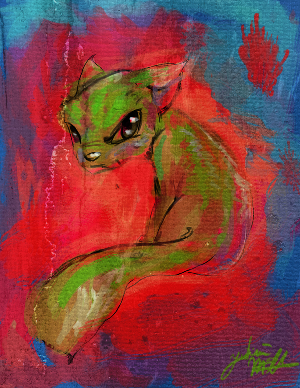 Green Cat by Lumaris