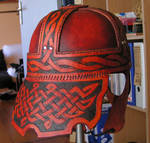 Leather Celtic Helmet 2 by Bear-Crafter