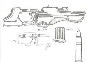 Bolt Grip Sniper Rifle Concept by Chigiri16