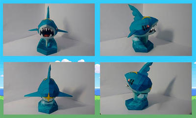 Sharpedo Papercraft by Ximira21