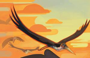 fliegende Marabus by CloudAtelier