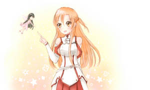 SAO Asuna Yui Doodle by ShiraKyandii