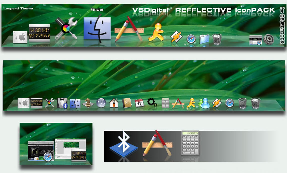 Icons for Leopard ObjectDock by vsdigital