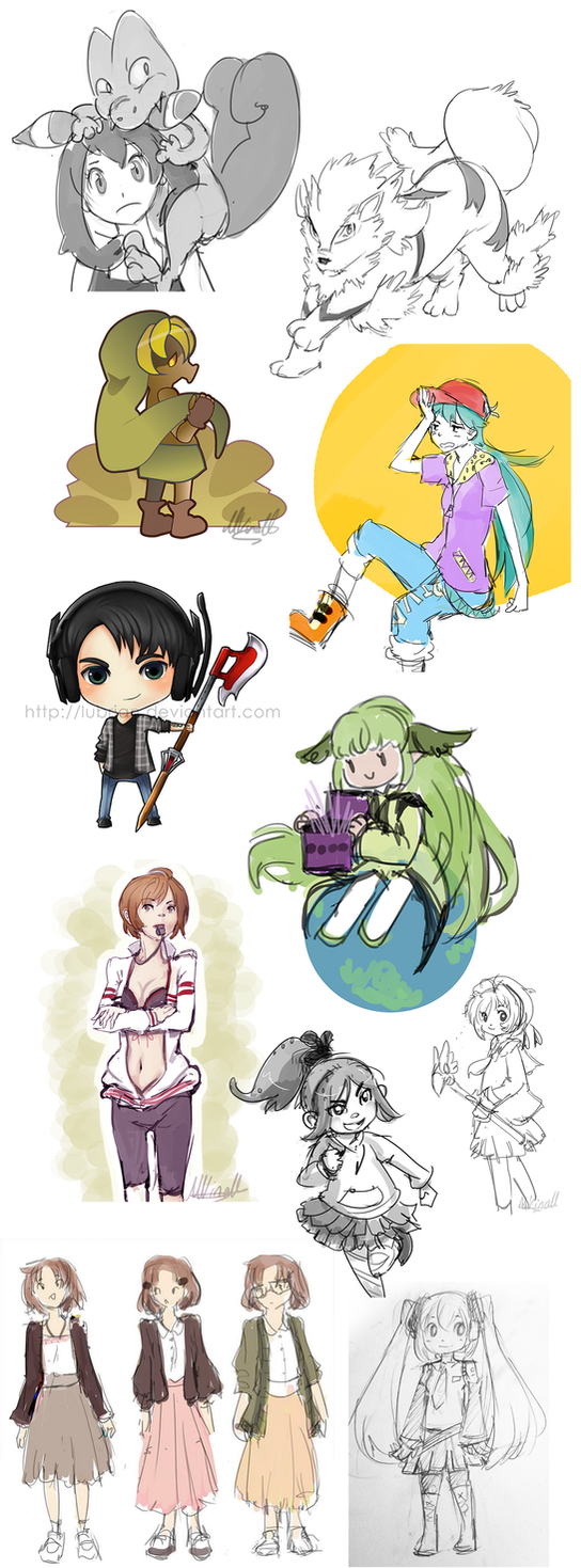 Little Coloured Doodles by Lubrian