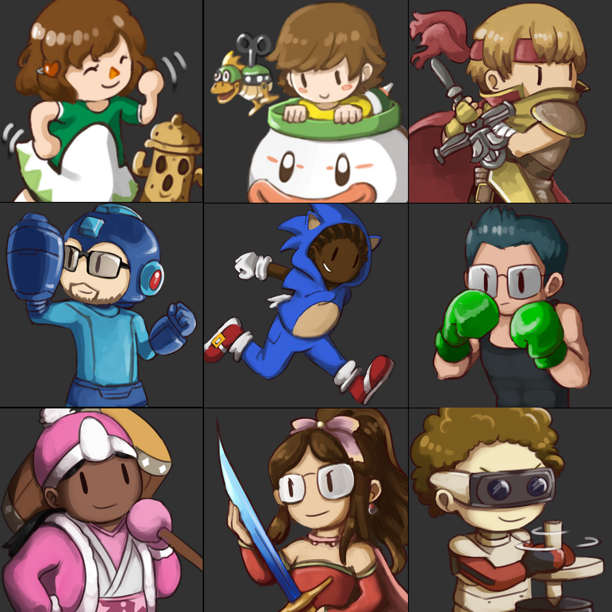 Smash Bros Icon Commissions by Lubrian