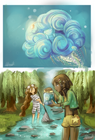 Mermaid Catching by Lubrian