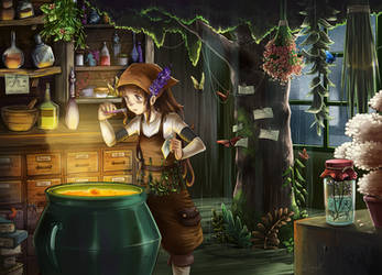 The Potion Shop by Lubrian