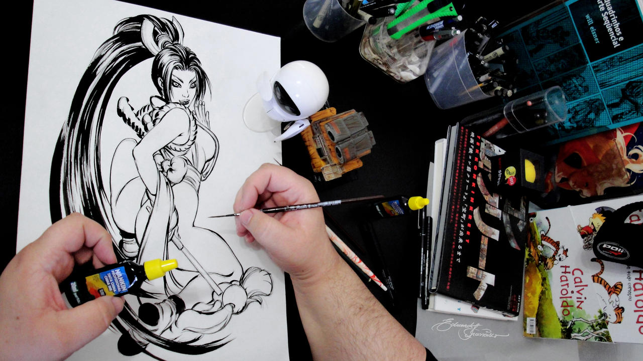 Inking Mai by eDufRancisco