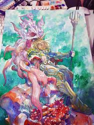 Aquaman, watercolor