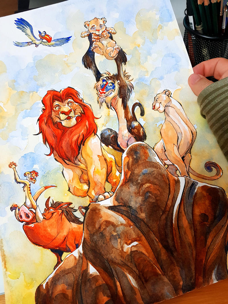 The Lion King, watercolor