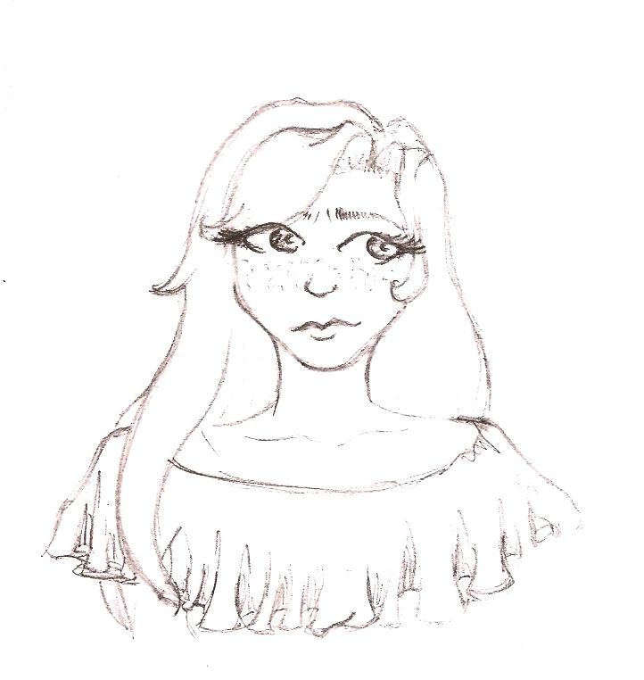 Essai dessin style manga visage de jeune fille by - Dessin visage fille ...