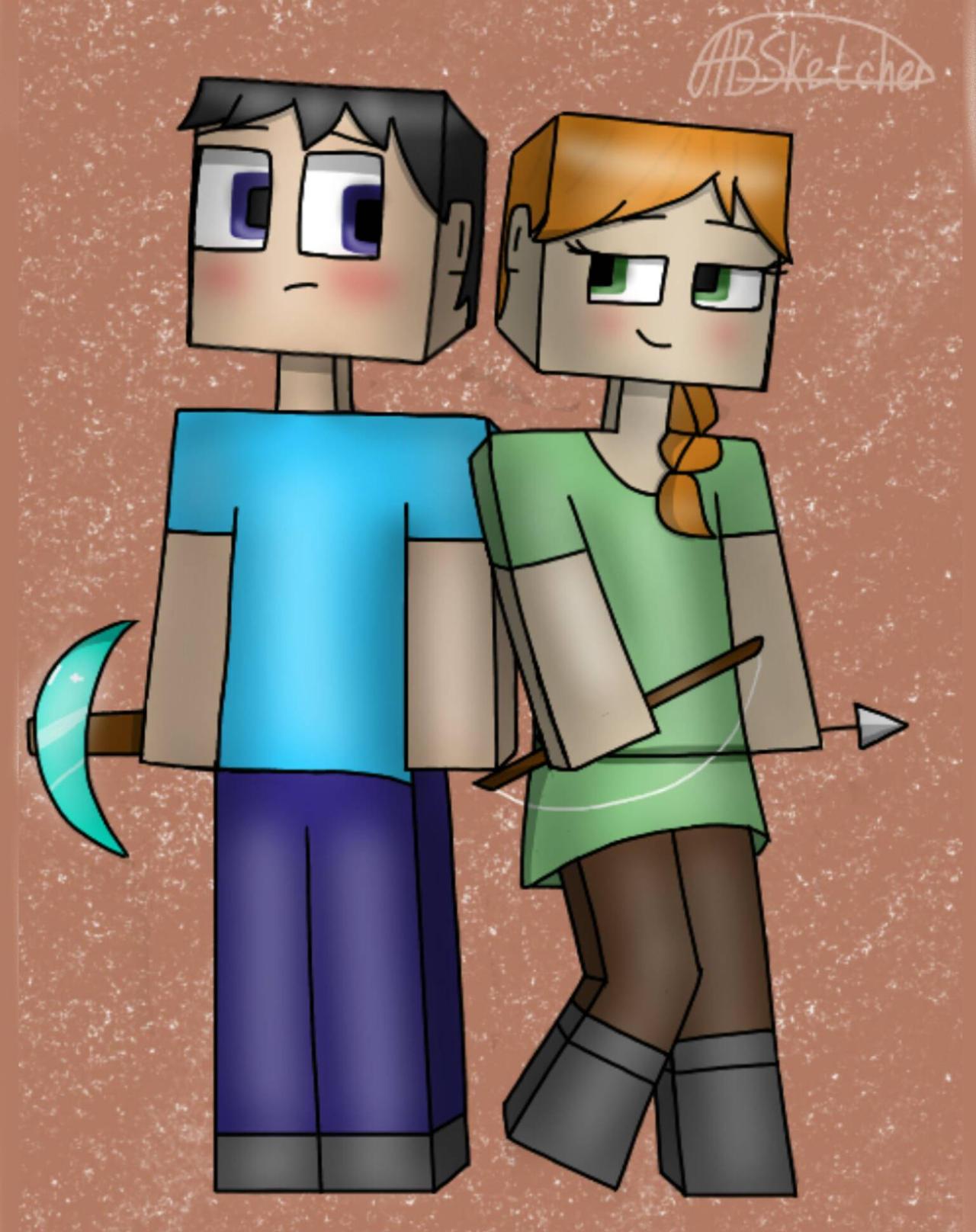 Minecraft - Steve and Alex by nemaele on DeviantArt