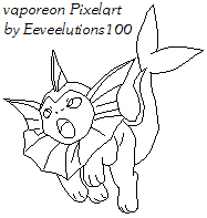 Vaporeon attacks lineart by eeveelutions100 on deviantart for Vaporeon coloring pages