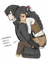 ZUBA: Piggyback ::Soft Color by SuperAiko