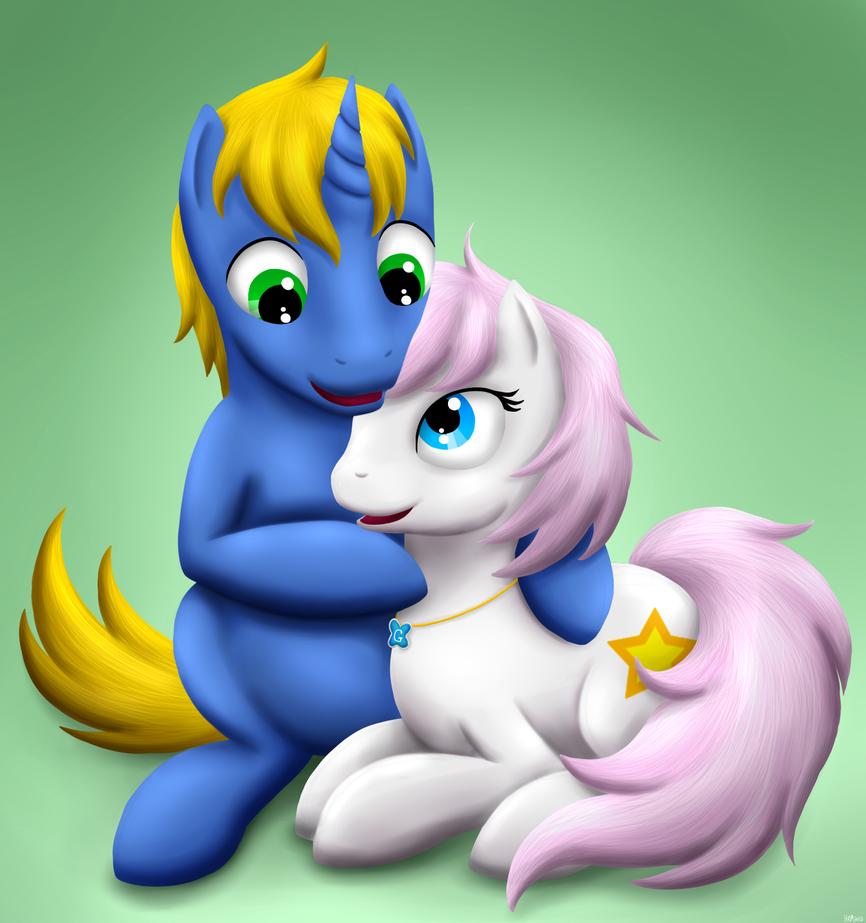 Commission: Pony Cuddles by Shrineheart