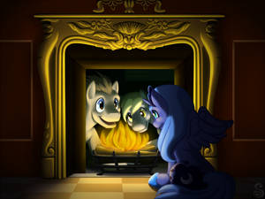 Print: The Filly in the Fireplace