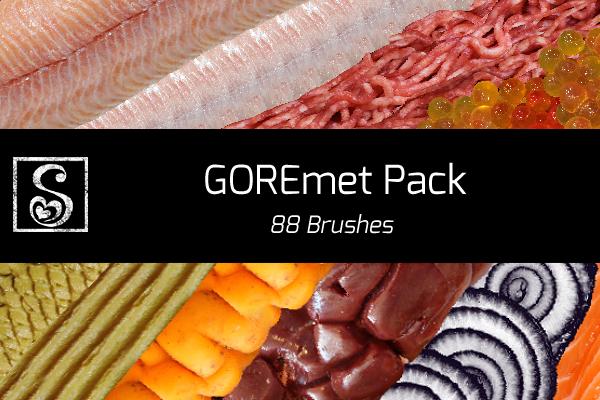 Shrineheart's GOREmet Pack - 88 Brushes by Shrineheart