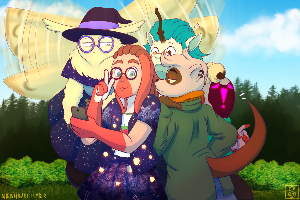 Draw the Squad: Selfie by Shrineheart