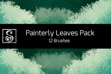 Shrineheart's Painterly Leaves - 12 Brushes by Shrineheart