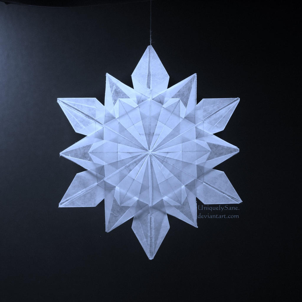 origami snowflake waxpaper by uniquelysane on deviantart